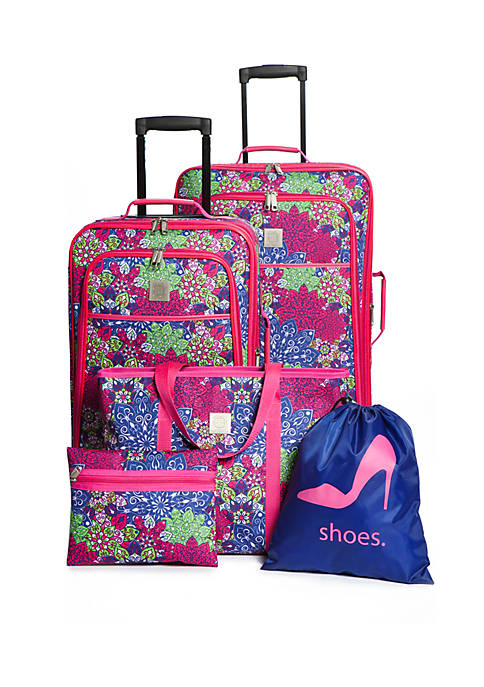 Flowering Medallion 5-Piece Luggage Set