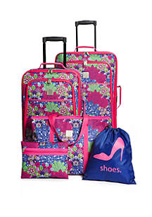 Modern. Southern. Home.™ Flowering Medallion 5-Piece Luggage Set
