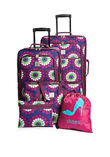 Bursting Dots 5-Piece Luggage Set