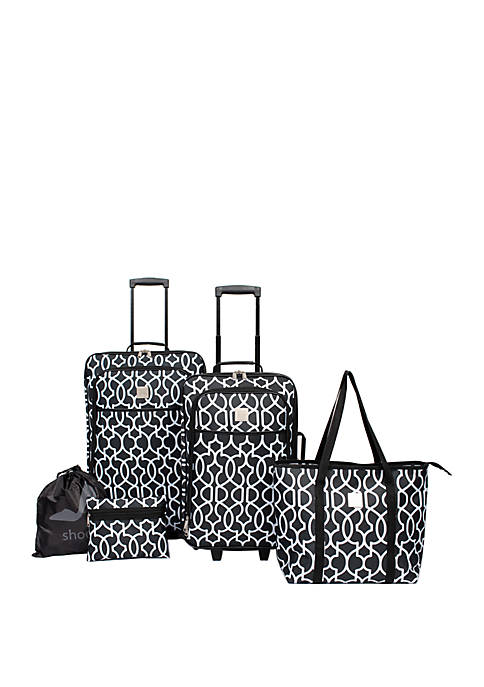 Drake Lattice 5 Piece Luggage Set