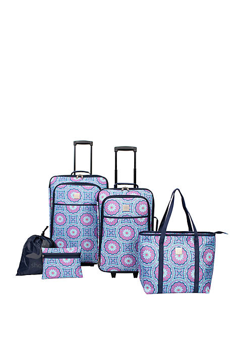Modern. Southern. Home.™ Delta Blue Medallion Luggage 5