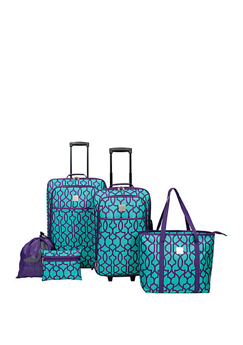 Modern. Southern. Home.™ Dark Lattice 5 Piece Luggage