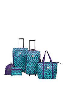 Modern. Southern. Home.™ Dark Lattice 5 Piece Luggage Set