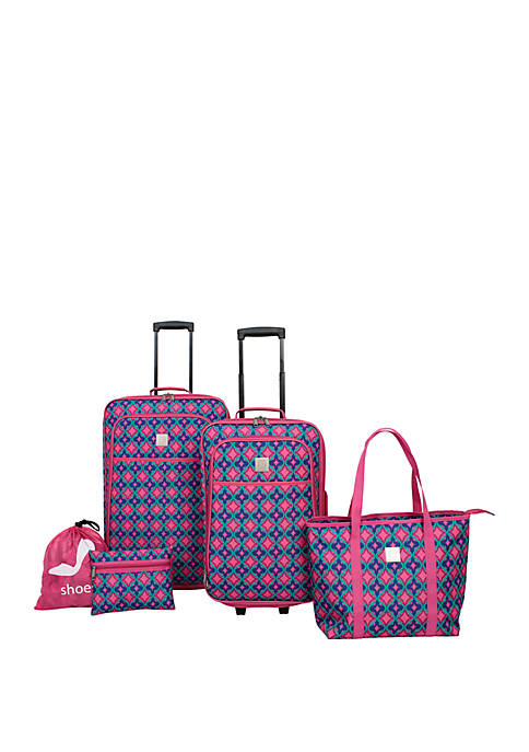 Modern. Southern. Home.™ Pink Purple Abstract 5 Piece