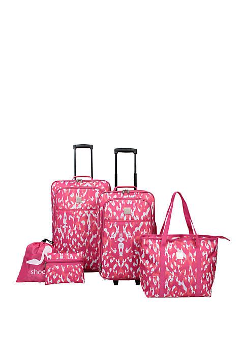 Tie Dye 5 Piece Luggage Set