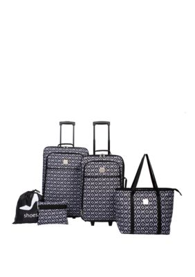 5-Piece Modern. Southern. Home Ikat Luggage Set
