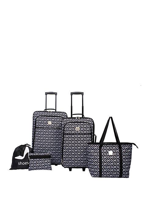 Ikat 5 Piece Luggage Set