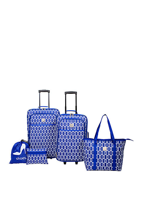 Delta Geometric Mix 5 Piece Luggage Set