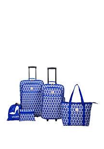 Modern. Southern. Home.™ Delta Geometric Mix 5 Piece Luggage Set