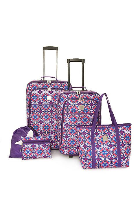 Modern. Southern. Home.™ Shirley Medallion 5 Piece Luggage