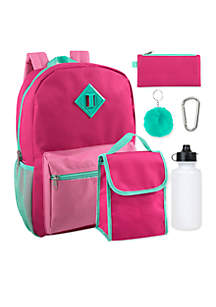 Solid 6-in-1 Backpack Set