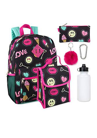 Lightning Bug Silly Smile 6-in-1 Backpack Set