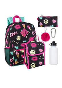 Silly Smile 6-in-1 Backpack Set