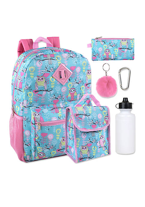 Lightning Bug Owls 6-in-1 Backpack Set