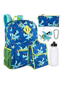 6-in-1 Sharks Backpack Set