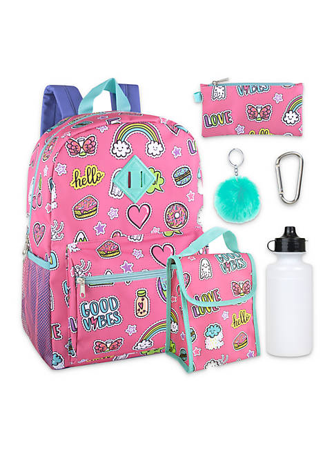 Lightning Bug Good Vibes 6-in-1 Backpack Set