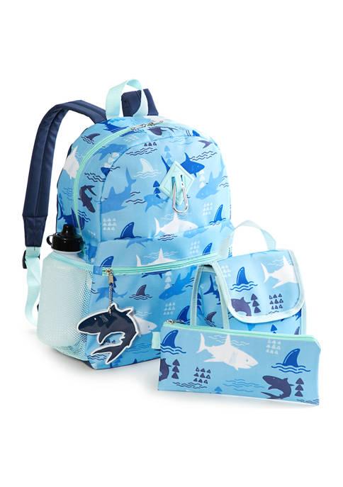 Lightning Bug Kids 6-in-1 Shark Backpack