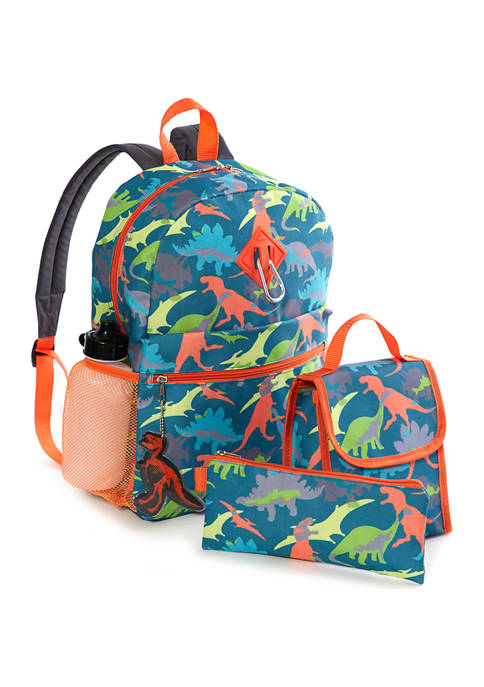 Lightning Bug Kids 6-in-1 Dino Backpack