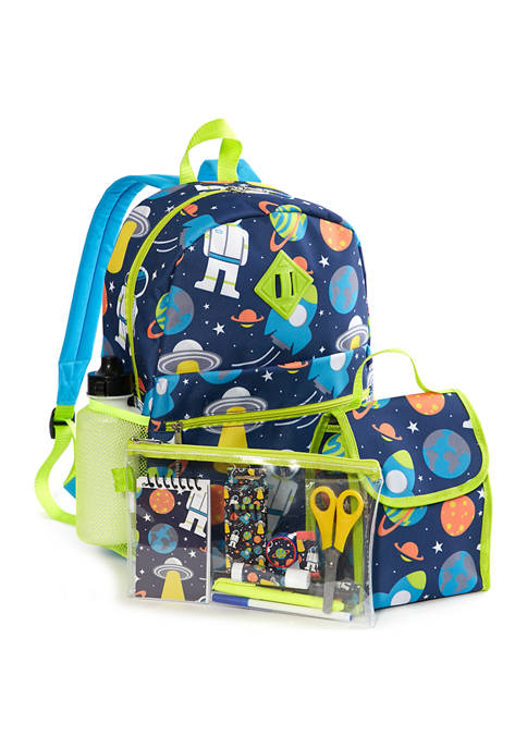 Lightning Bug Kids 20-in-1 Space Backpack