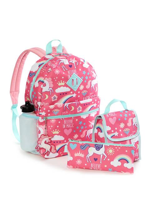 Lightning Bug Kids 6-in-1 Unicorn Backpack