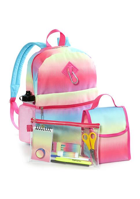 Lightning Bug Kids 20-in-1 Ombre Backpack