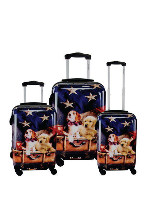 Chariot 3 Piece Freedom Pups Luggage Set