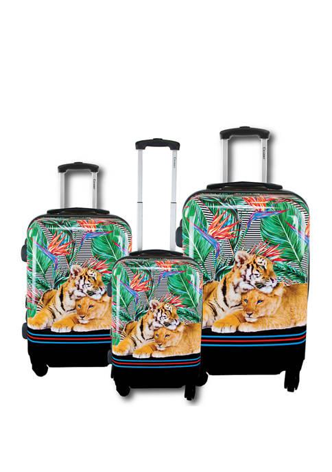 Chariot 3 Piece Mod Tiger Luggage Set
