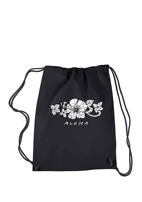 LA Pop Art Drawstring Backpack-Aloha