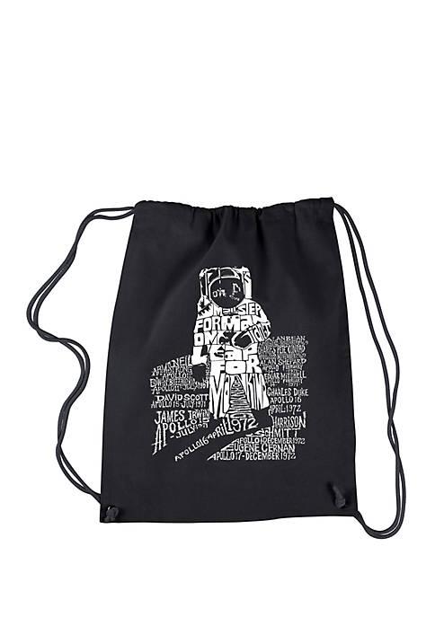 LA Pop Art Drawstring Backpack-Astronaut