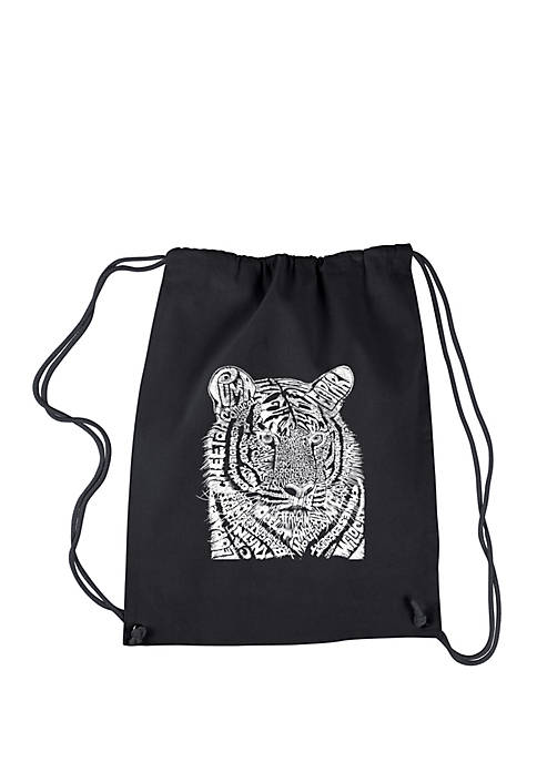 LA Pop Art Drawstring Word Art Backpack-Big Cats