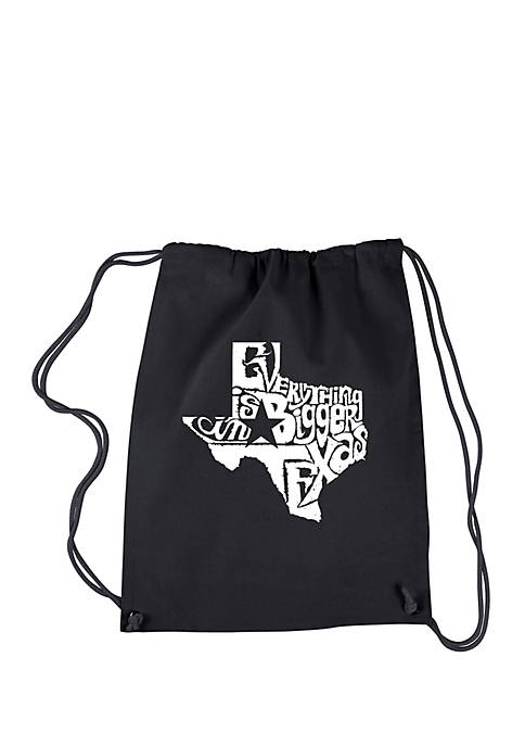 Drawstring Backpack Everything is Bigger in Texas