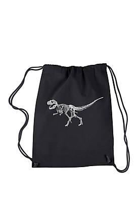Drawstring Backpack Dinosaur T Rex Skeleton