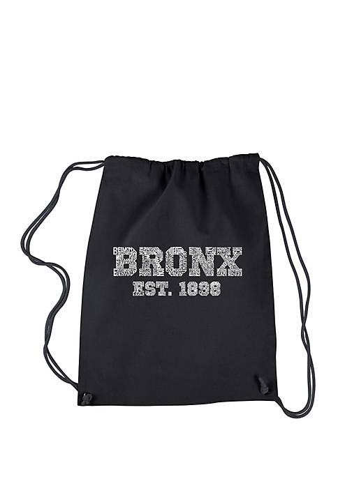 LA Pop Art Drawstring Backpack-Popular Neighborhoods in Bronx,