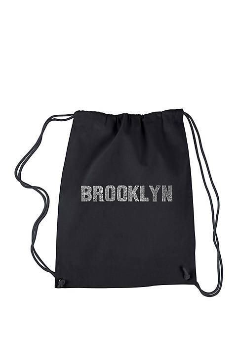 LA Pop Art Drawstring Backpack Brooklyn Neighborhoods