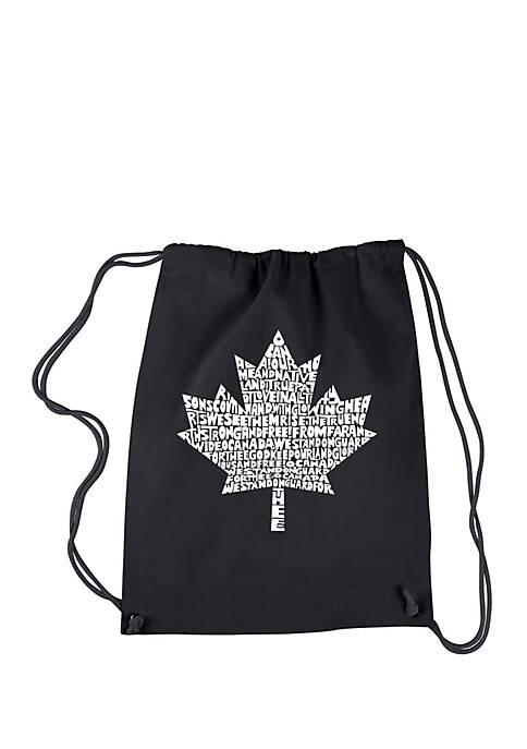LA Pop Art Drawstring Backpack Canadian National Anthem