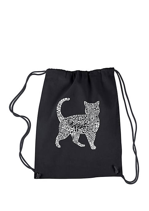 LA Pop Art Drawstring Backpack Cat