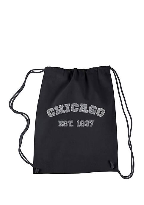 LA Pop Art Drawstring Backpack Chicago 1837