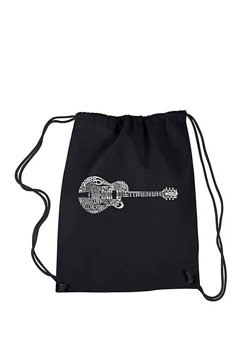 LA Pop Art Drawstring Backpack-Country Guitar