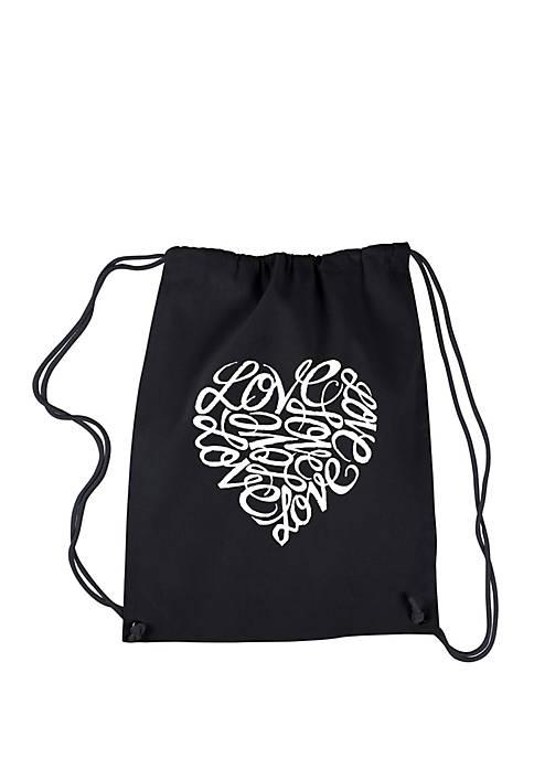 LA Pop Art Drawstring Backpack Love
