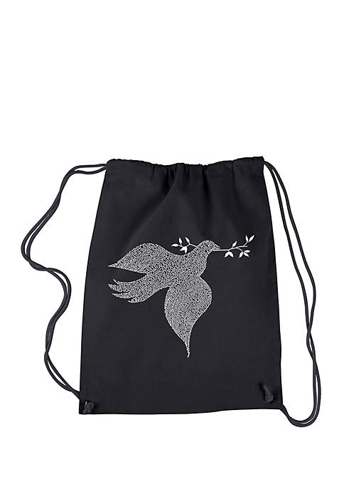 Drawstring Backpack-Dove