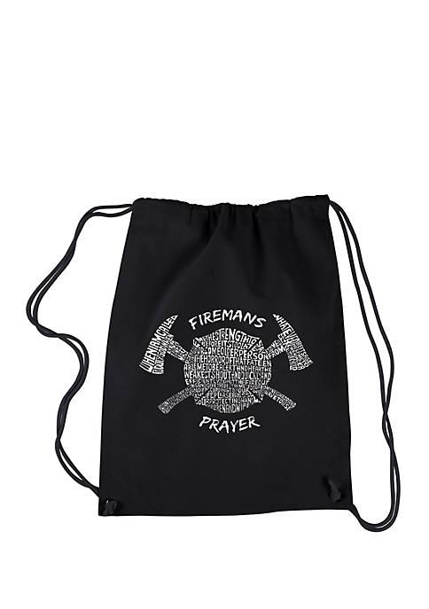 Drawstring Backpack Firemans Prayer