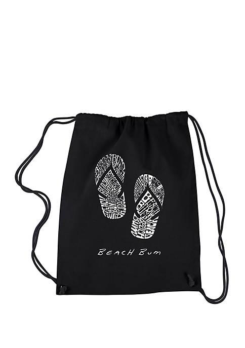 Drawstring Backpack-Beach Bum