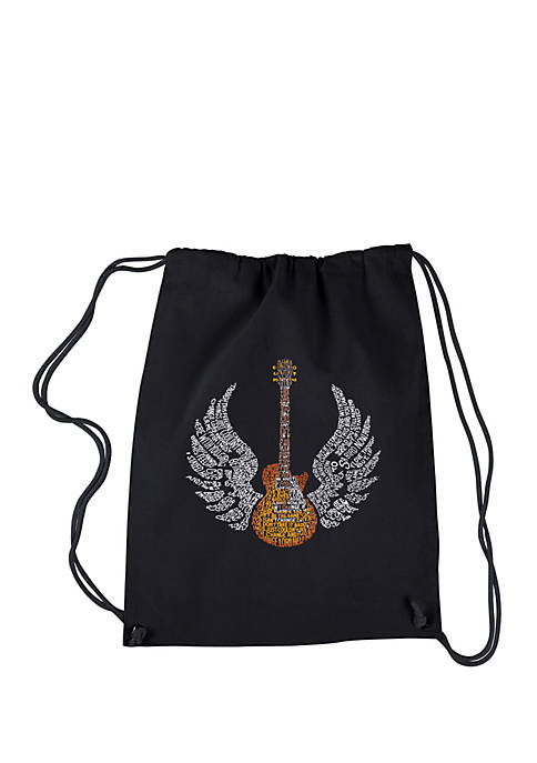 LA Pop Art Drawstring Backpack-Lyrics to Freebird
