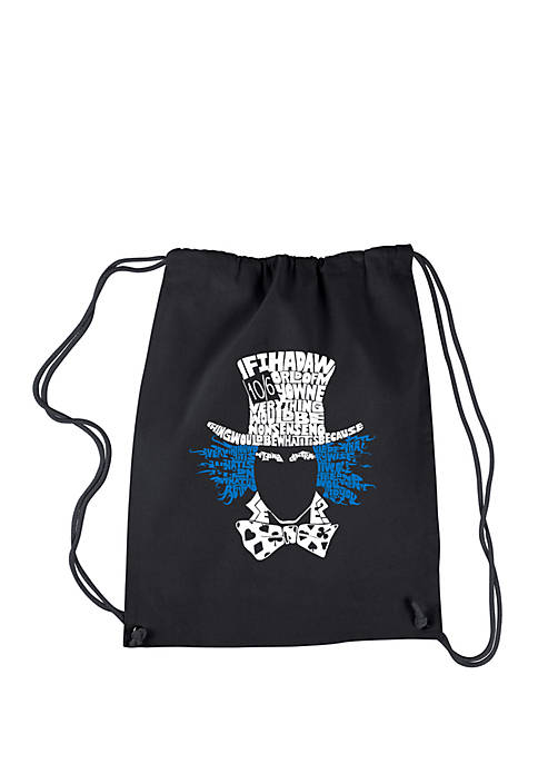 Drawstring Backpack-The Mad Hatter