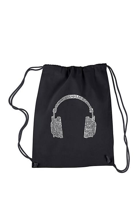 LA Pop Art Drawstring Backpack-63 Different Genres of