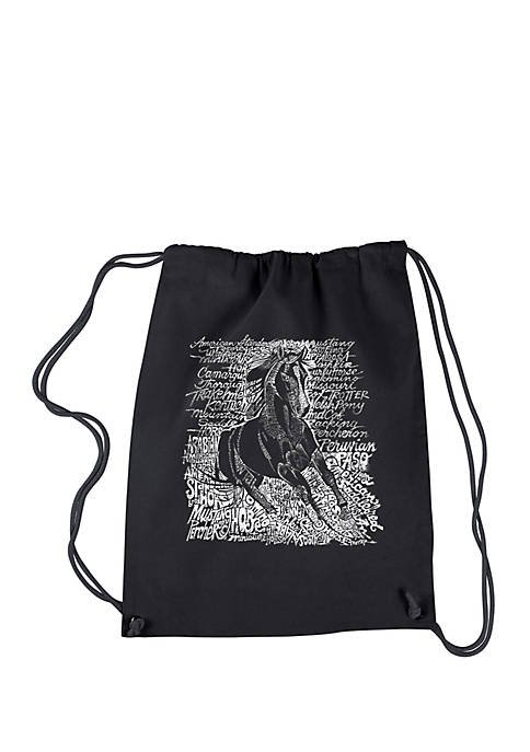 Drawstring Backpack-Popular Horse Breeds