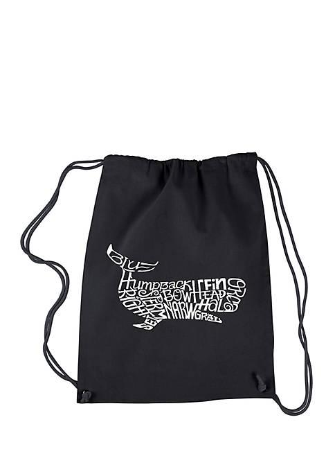 Drawstring Word Art- Backpack Humpback Whale