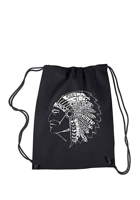 LA Pop Art Drawstring Backpack- Popular Native American