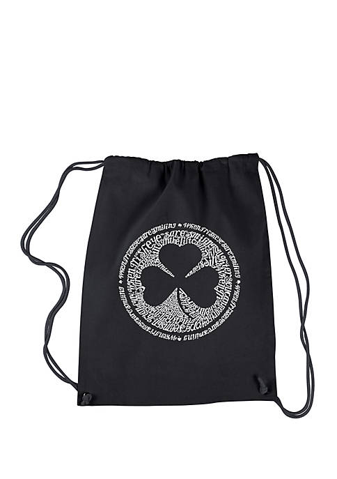 Drawstring Backpack-Lyrics to When Irish Eyes Are Smiling