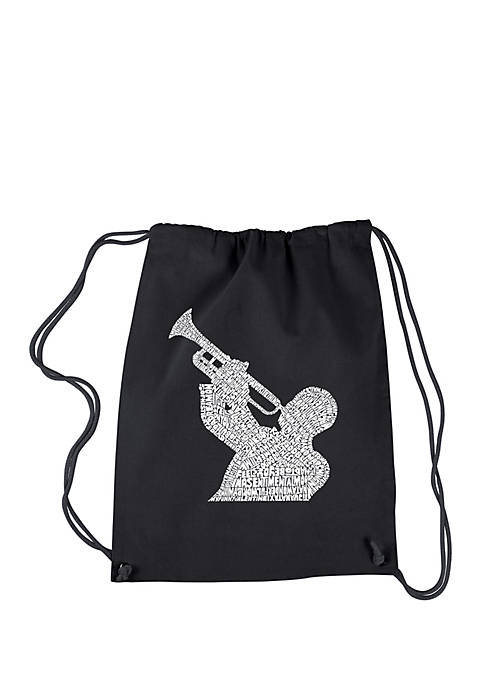 Drawstring Backpack-All Time Jazz Songs